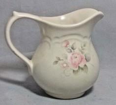 Pfaltzgraff Tea Rose Creamer Stoneware Pink Roses  - $18.70
