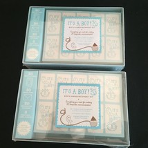 Lot of 2 Baby Shower It's A Boy Birth Announcement Blue Kit - New & Sealed - $27.93