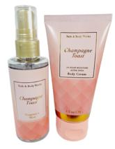 Bath & Body Works CHAMPAGNE TOAST Fragrance Mist Body Cream Travel Set 2... - $17.81