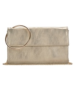 Madison West Marbled Gold Crossbody Clutch with Ultra-Glam Goldtone Hoop... - £20.65 GBP