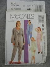 Unlined Jacket Top Pull on Pants Skirt Womens 18W 20W 22W 24W McCalls 31... - $8.00