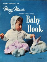 Vtg Mary Maxim Knit Layette Carriage Suit Cover Soaker Cape Dress Baby Book - $11.99