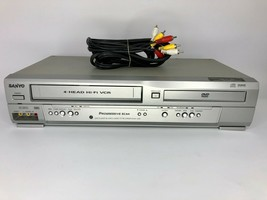 Sanyo DVW-7200 DVD Player / VCR Combo 4 Head Hi-Fi - Tested & Works - RCA Cables - $74.79