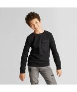 Boys Black Brave Art Class Sweat Shirt With Pocket Size S 6/7 NWT - $10.39