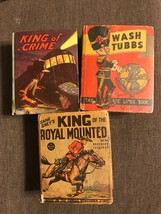 1930's Rare Big Little Books(3) King of the Royal Mounted, King Of Crime... - $24.75