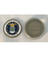 AIR FORCE CHALLENGE COIN UNITED STATES US DUTY HONOR COUNTRY GOLD & BLUE... - $9.28