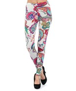 Solstice with Paisley and Flowers Printed Fashion Legging - $15.99
