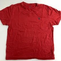 Polo Ralph Lauren T Shirt Mens M Red Logo Crew Neck Short Sleeve Casual ... - $17.99