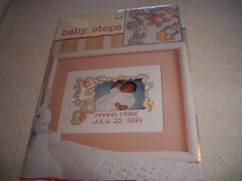 Baby Steps Locket Photo frame Cross Stitch Kit: Comes with Fabric, Floss... - $10.00