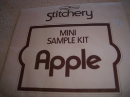 Mini Apple Needlecraft Embroidery Kit: Comes with Fabric, Floss, Transfe... - $5.00