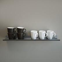 OVER THE RANGE Shelf, Floating/ Reversible Ledge, Spice Rack, Mug Displa... - £44.90 GBP