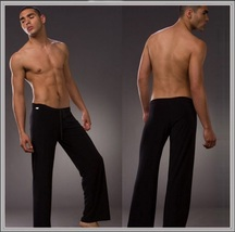 Men's Luxury Ice Silk Lounger Trousers Pajama Bottom Pants image 2