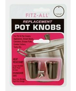 Fitz-All TOPS Replacement POT KNOBS 2ct Black Appliances Heat Resistant ... - $7.59