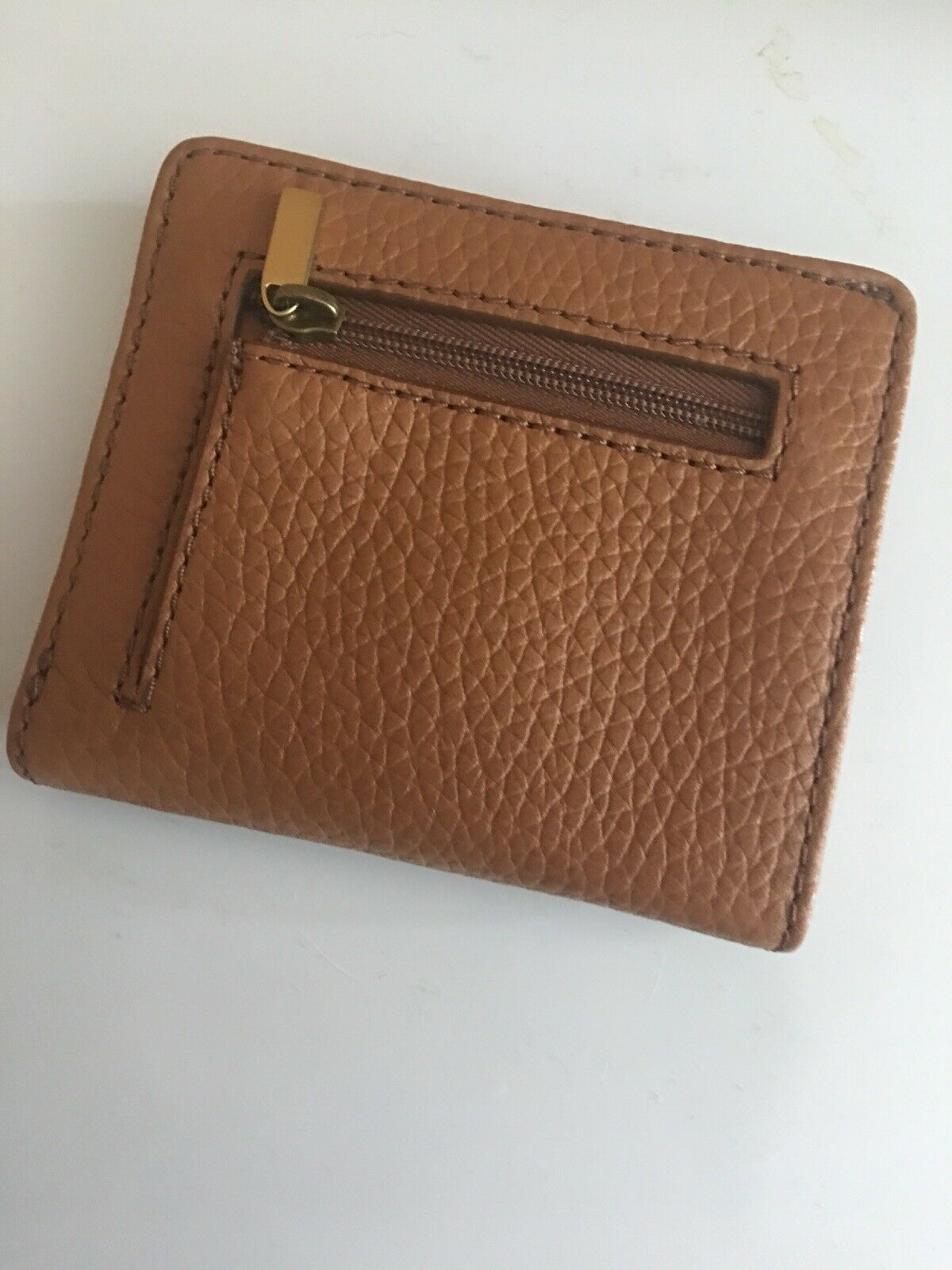 FOSSIL TESSA Leather Bifold Wallet Women's Medium Cognac New NWT