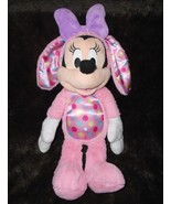 Disney Minnie Mouse Pink Easter Bunny Plush Stuffed Animal Just Play Pol... - $24.63