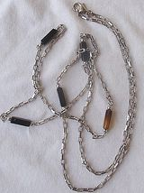Fashion silver  black links necklace a thumb200