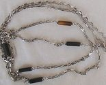 Fashion silver  black links necklace thumb155 crop
