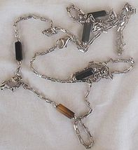 Fashion silver  black links necklace a 2 thumb200