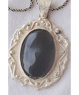 Oynx pendant with beautiful silver frame - $36.00