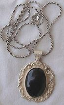 Oynx pendant with beautiful silver frame 1 thumb200