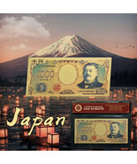 WR Japan 1000 Yen Gold Foil Banknote Note Bill For Collection In Sleeve - $3.49