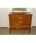 MCM Mid Century Modern 3 Drawer Dresser End Table Nightstand Dixie Wood ... - $159.92