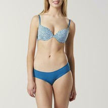 Sears Brand Women/'s T Shirt Bra /& Bikini Panty Set 40D Blue Tossed Hearts