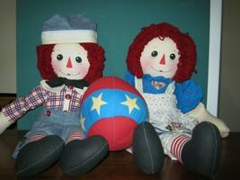 "Handmade Raggedy Ann and Andy Dolls 24"" - $22.99"