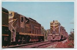 Grand Trunk Railway EMD Geeps Railroad Train 16 Gilead Maine postcard - $5.89
