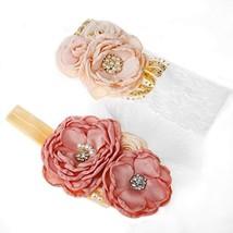 Yunko 2pcs Baby Girl Elastic Headbands Princess Hairband Party Feather H... - $13.21