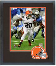 Terrance West 2014 Cleveland Browns - 11 x 14 Team Logo Matted/Framed Photo - $42.95