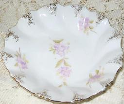 Porcelain Small Dessert/Candy Bowl-Floral Purple Pattern w/Gold-5 in - $6.00