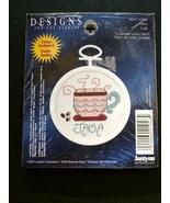 "Janlynn ""JAVA"" Counted Cross-Stitch Kit with Frame - New! - $6.50"