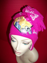 Barbie Doll Girl Clothes Set Cold Weather Apparel Winter Hat New Matching Gloves - $10.44