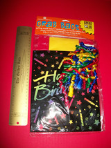 Home Gift American Greeting Grab Bag Set Tote Tissue Paper Ribbon Happy Birthday - $4.74