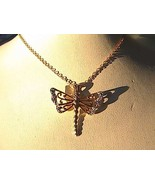 Sterling Silver Gold tone Dragon fly Necklace 2.0 grams - $20.00