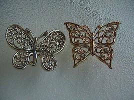 Beautiful FashionSilver & Gold Tone Butterfly Pin Brooch - $12.00