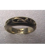 Vintage Sterling Silver Scroll Swirl Band Ring 5.8 grams - $20.00