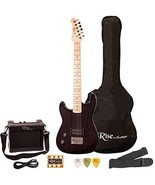 Rise by Sawtooth ST-RISE-ST-LH-3/4-BLK-KIT-1 Electric Guitar Pack New - ₨6,242.91 INR