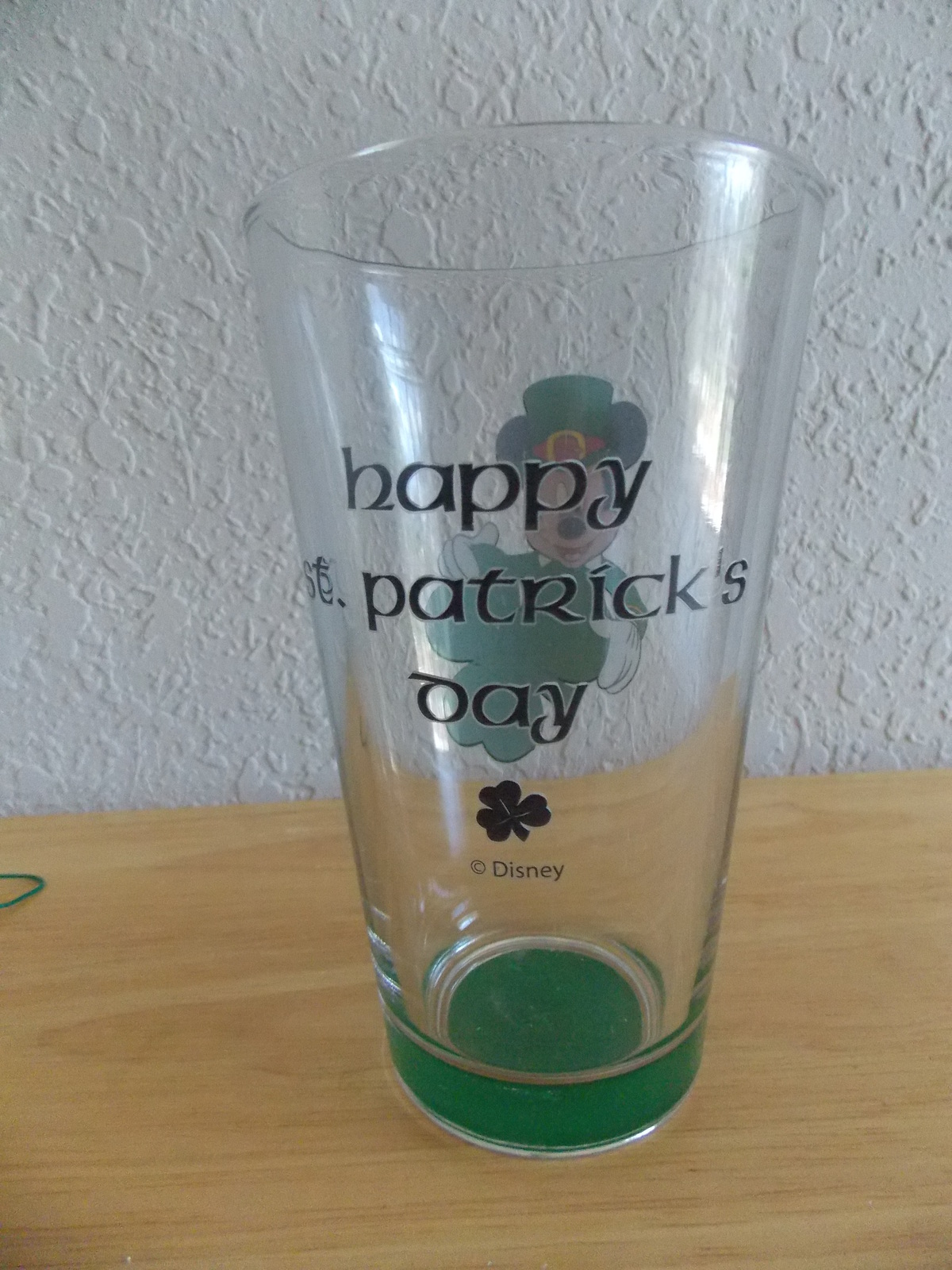 Disney Mickey Mouse Happy St. Patrick's Day Tall Glass
