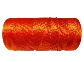 Nylon Cord Orange (not waxed) 1mm - 50 feet (15.24 meters) - $2.00