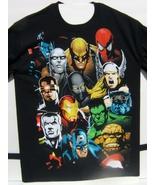 Marvel Superhero Faces Short Sleeve 100% Cotton T-Shirt Medium Size NEW ... - $24.95