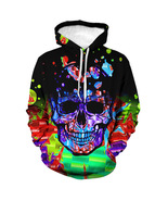 Fashion new Aurora spiral 3D digital printing men's hooded sweater - $40.50
