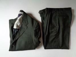 Tommy Hilfiger Men's 40R Green 3 Button Wool Suit & Pants 36 x 28 - $49.39