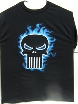 Marvel The Punisher Blue Smoke Logo Medium Size T-Shirt Brand New 100 % ... - $29.95