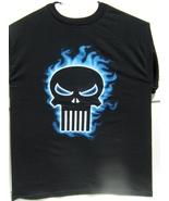 Marvel The Punisher Blue Smoke Logo Medium Size T-Shirt Brand New 100 % ... - $29.95