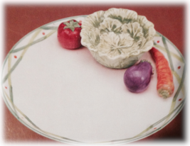 """Home Accents PARTY PLATTER 12"""" Vegetable, Carro... - $12.99"""