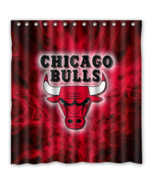 Chicago Bulls 17 Shower Curtain Waterproof Polyester Fabric For Bathroom  - $33.30+