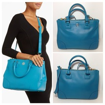 TORY BURCH ROBINSON DOUBLE-ZIP TOTE - ELECTRIC EEL - $399.00