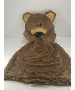 Neiman Marcus Teddy Bear Lovey Brown Velour Baby Security Blanket Plush ... - $17.81